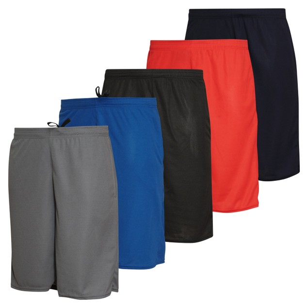 5-Pack Boys Mesh Active Shorts