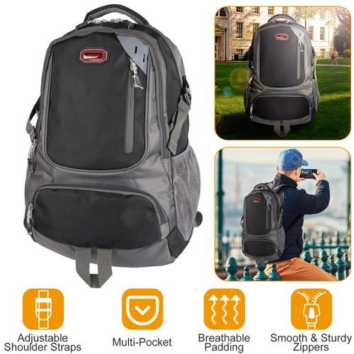 Unisex School Backpack Casual Travel Shoulder Bag W/ Adjustable Straps
