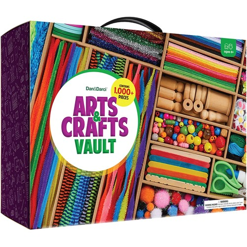 Arts and Crafts Vault - 1000+ Piece Craft Kit Library in One Large Box