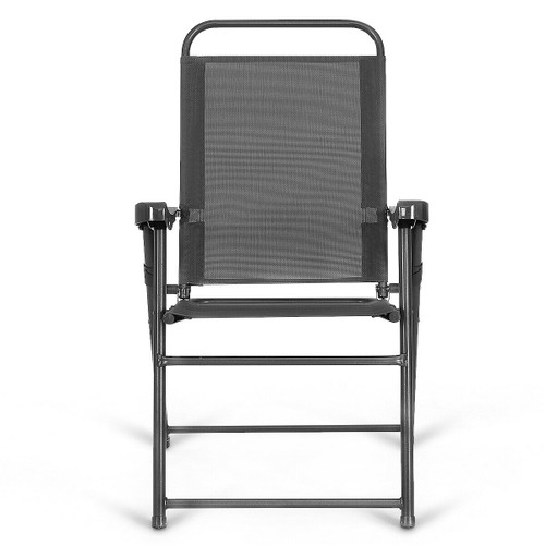 Costway 4PCS Outdoor Patio Folding Chair W/Armrest Portable Camping Lawn Ga