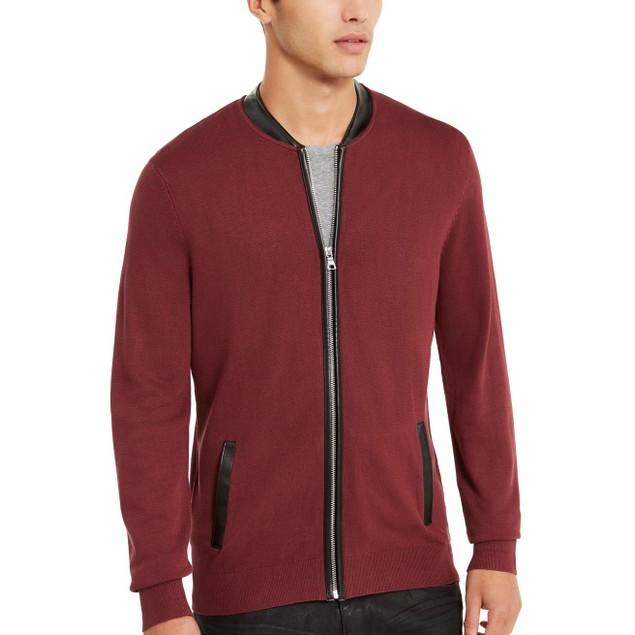 INC International Concepts Men's Zip-Front Cardigan Brown Size XXX-Large