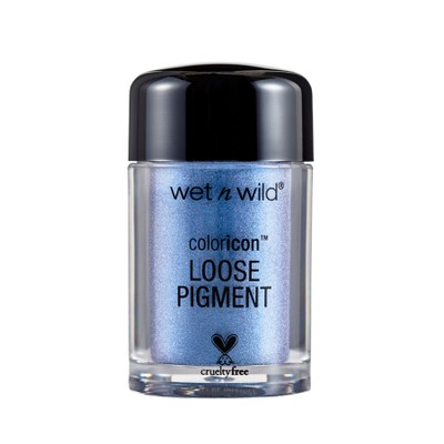 Wet N Wild Color Icon Loose Pigment w/ Metallic Effect, To-Knights Blue,