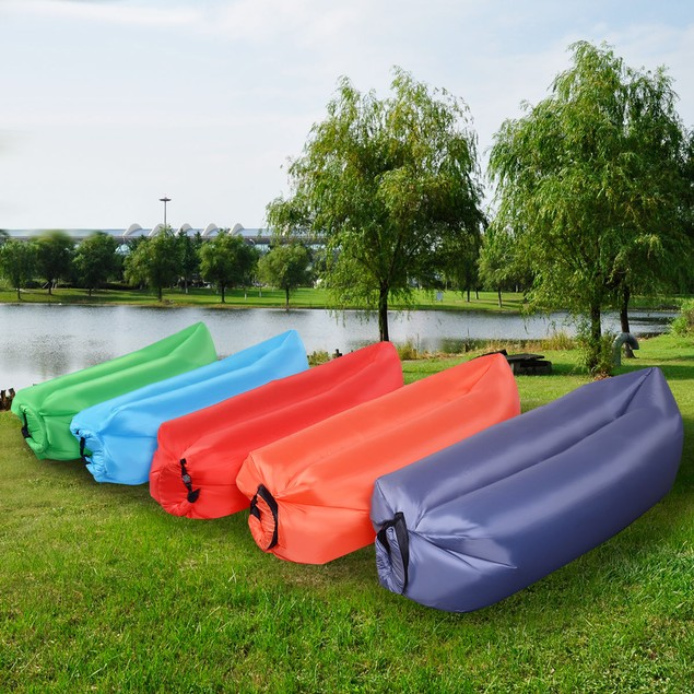 Costway Inflatable Couch Air Sleeping Sofa Lounger With Bag