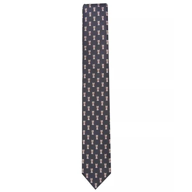 Bar III Men's Owl Skinny Neat Tie Black Size Regular