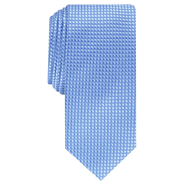 Alfani Men's Slim Neat Tie Blue Size Regular