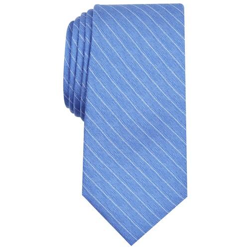 Alfani Men's Stripe Tie Blue One Size
