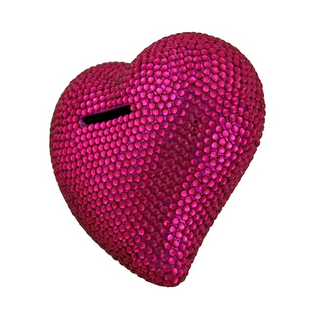 Heart And Soul Bright Pink Razzle Dazzle Toy Banks