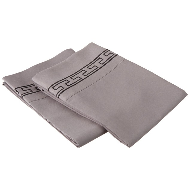 Embroidered REGAL Pillowcases, 2-Piece, Wrinkle Free Microfiber