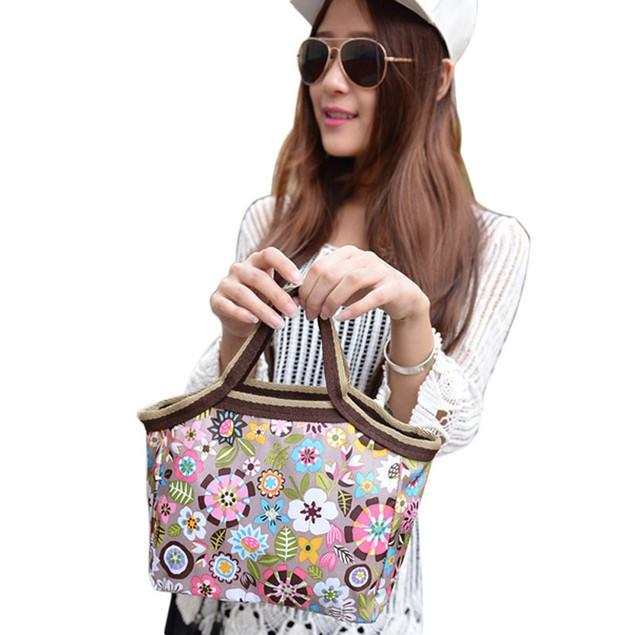 Boho Flower Print Lunch Bag
