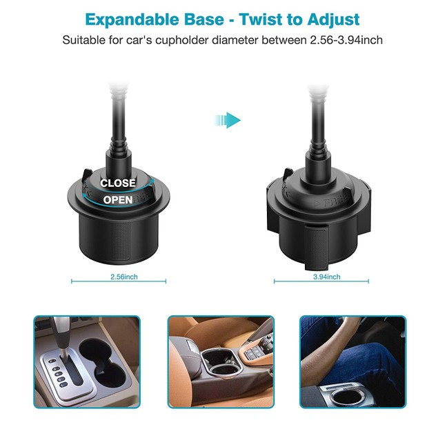 Flexible Goose-neck Cell Phone Cup Holder Phone Mount - Universal