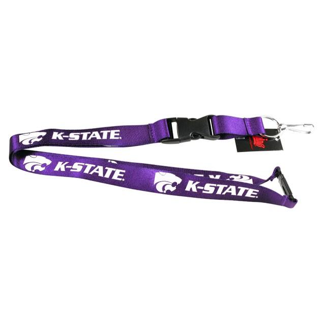 Kansas State Wildcats Clip Lanyard Keychain Id Holder Ticket - Purple