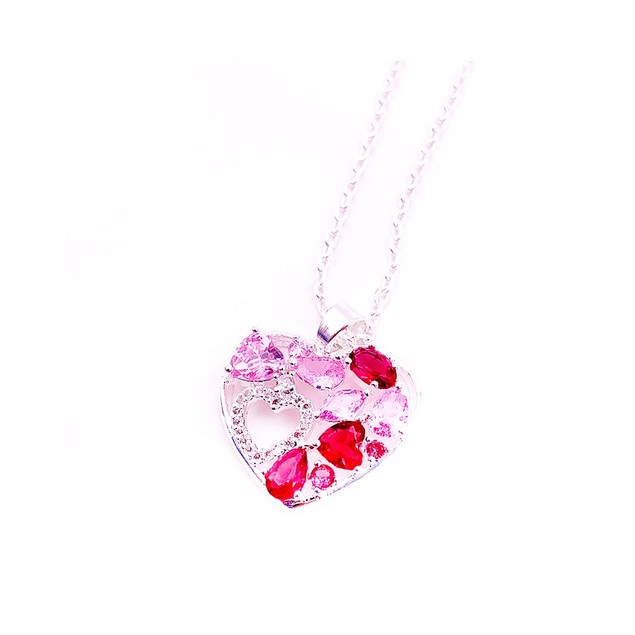 Novadab Heart-In-Heart Love Special Pendant With Initial And Birthstone