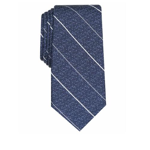 Alfani Mens Calusa Stripe Silk Blend Professional Neck Tie Blue One Size