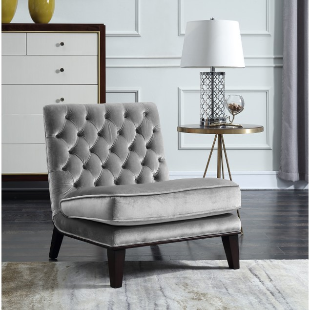 Chic Home Nestor Tufted Velvet Slipper Accent Chair