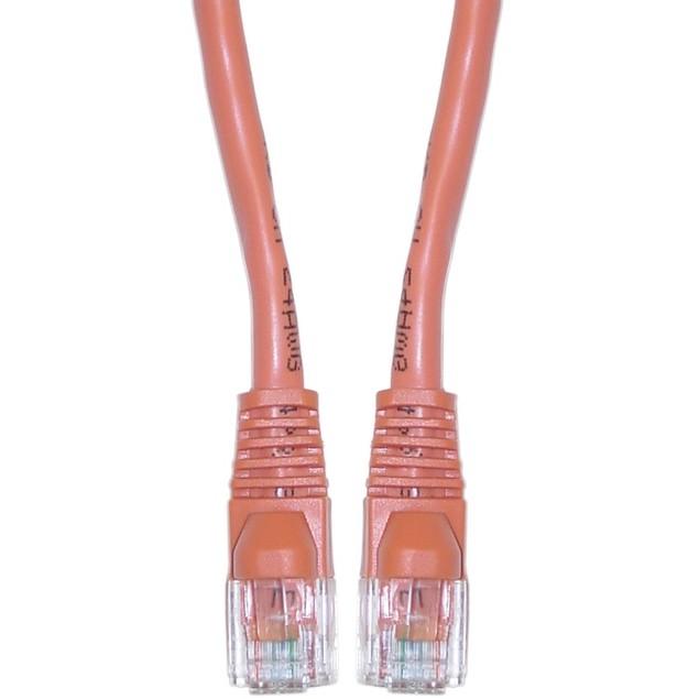 Cat5e Orange Ethernet Patch Cable,  7 foot