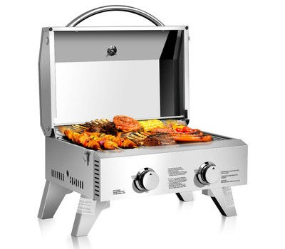 Costway Portable Stainless Steel Tabletop BBQ Propane Grill Was: $199.99 Now: $159.99.