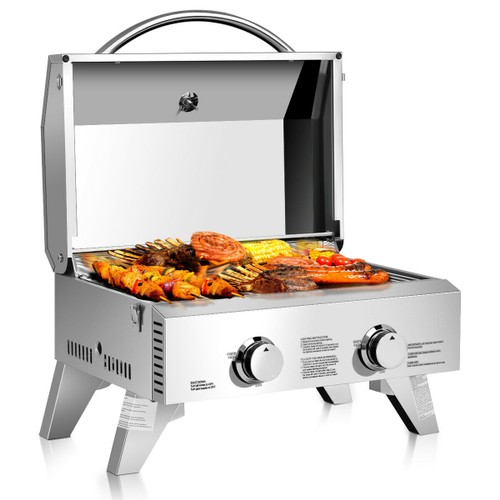 Costway Portable Stainless Steel Tabletop BBQ Propane Grill
