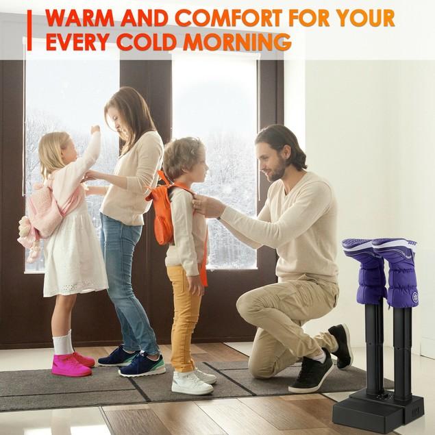 Costway 2-Shoe Electric Shoe Dryer Warmer Portable Adjustable Boots Socks G