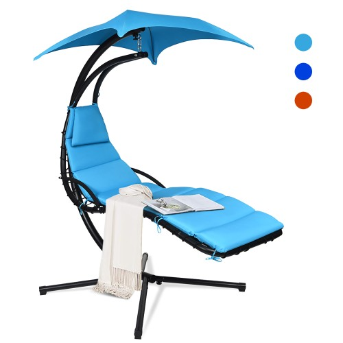 Costway Hanging Swing Chair Hammock Chair w/ Pillow