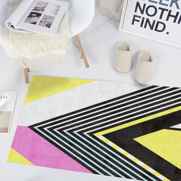 Color Geometric Carpet Sticker Floor Wall Sticker