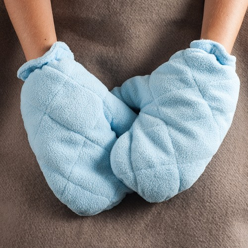 Heat Therapy Gloves - Microwaveable Mittens with Natural Crab Apple Seed