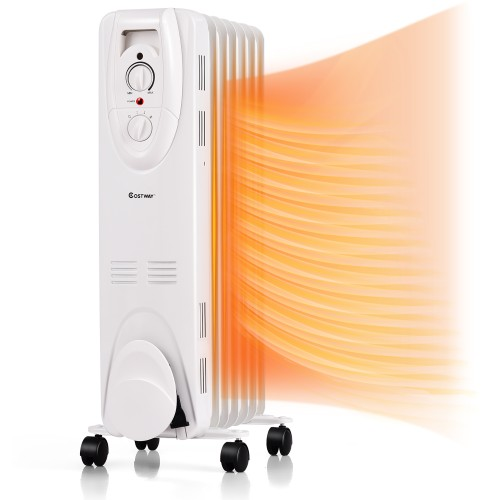 1500W Oil Filled Heater Portable Radiator Space Heater