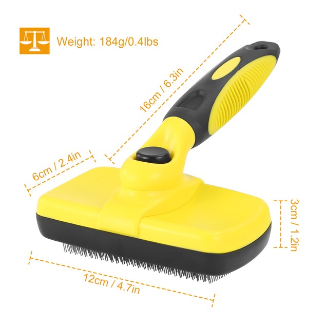 Self Cleaning Slicker Brush Pets Dogs Grooming Shedding Tools