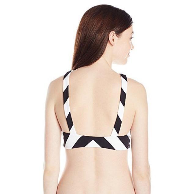 Rip Curl Women's Le Surf Reversible High Neck Bikini Top, Black, SZ: X