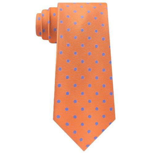 Tommy Hilfiger Men's Bright Preppy Dot Tie Orange Size Regular