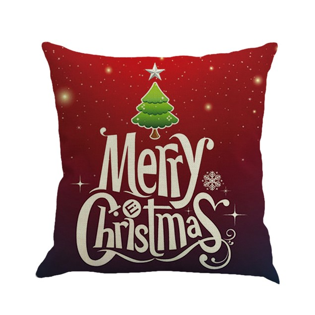 Christmas Printing Dyeing Sofa Bed Home Decor Pillow Cover Cushion Cover L