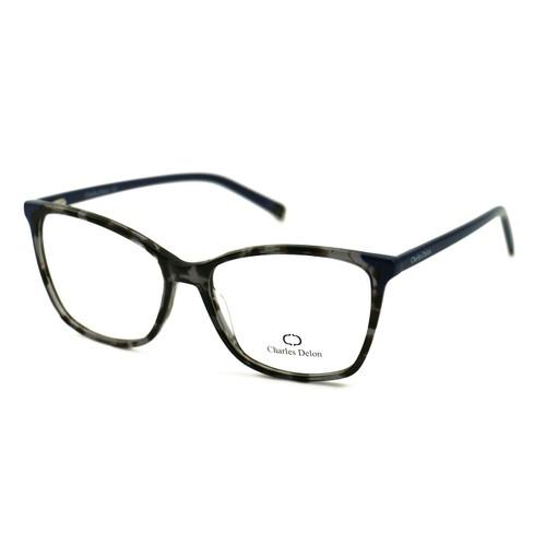 Charles Delon Women's Eyeglasses P6110 C2 Havana Black/Navy 54 16 140 Plastic
