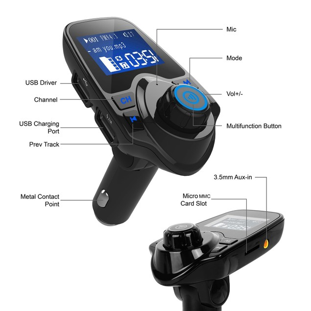 iMounTek Car Wireless FM Transmitter USB Flash Drive