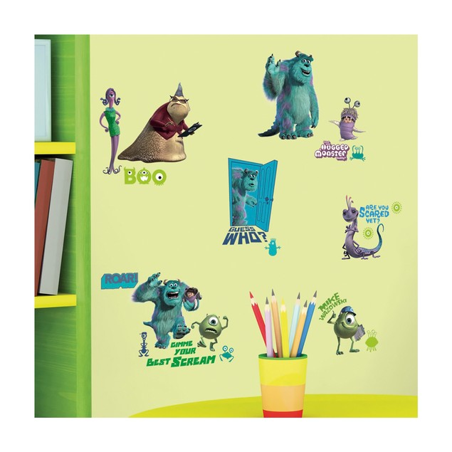 Roommates Nursery Baby Room Wall Decorative Monsters, Inc. Wall Decals