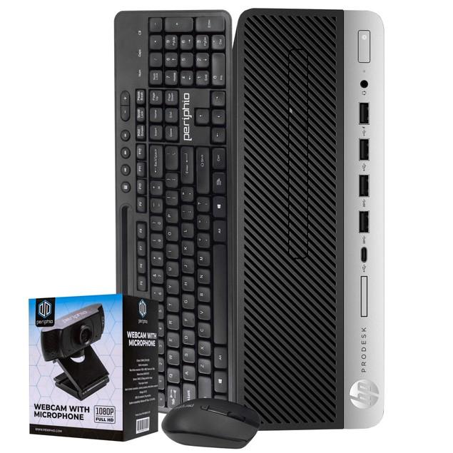 """HP 600G3 Desktop Intel i5 8GB 256GB SSD Windows 10 Professional 24"""" Monitor"""
