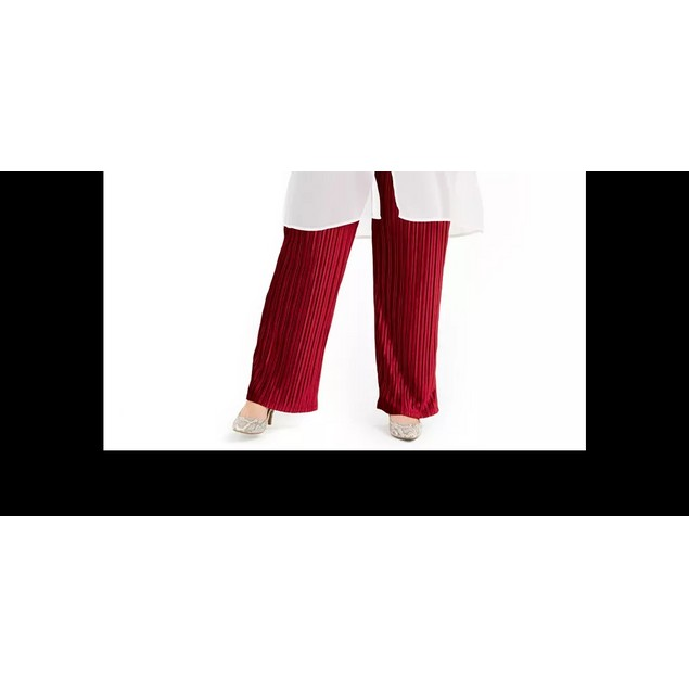 Alfani Women's Split Front Tunic Top White Size 2X