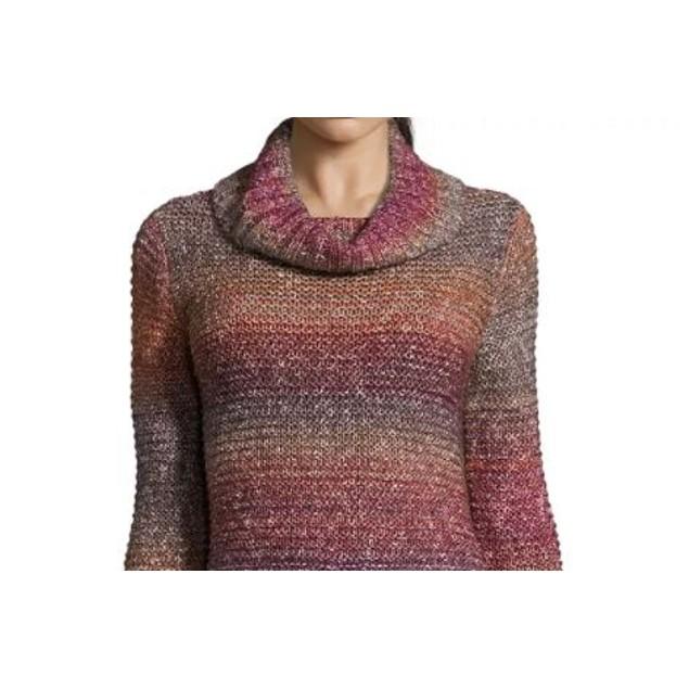 John Paul Richard Women's Cowl Neck Ombre Sweater Purple Size Large