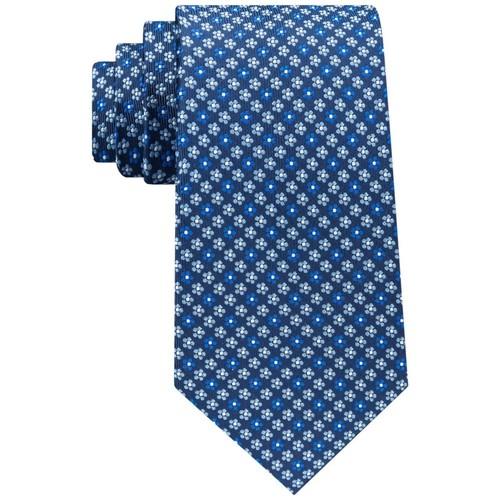 Club Room Men's Classic Floral Neat Silk Tie Navy Size Regular