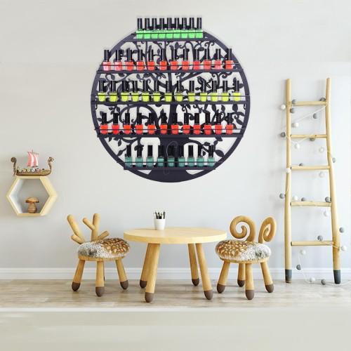 5 Tier Metal Circular Nail Polish Display Organizer Wall Rack Holder