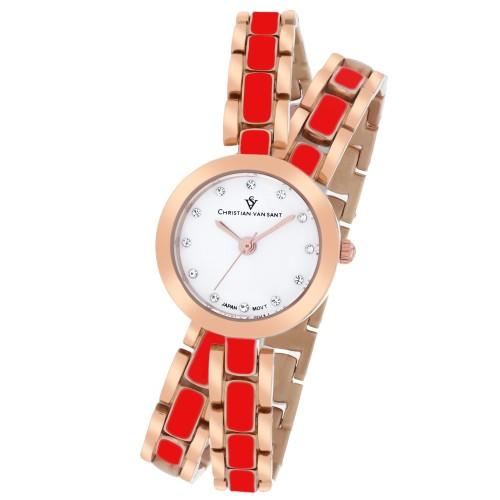 Christian Van Sant Women's Spiral White Dial Watch - CV5614