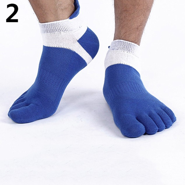 Fashion Men's Breathable Mesh Five Toe Casual Socks