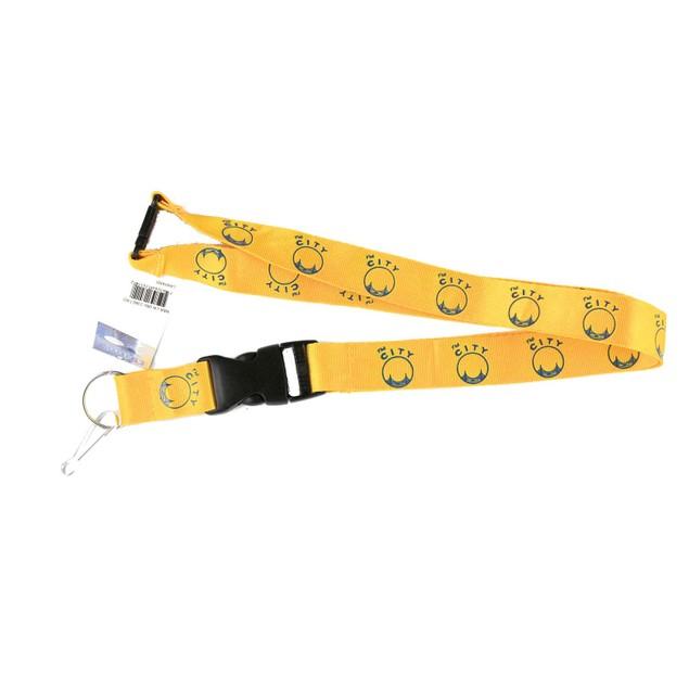 Golden State Warriors City Clip Lanyard Keychain Id Holder - Yellow