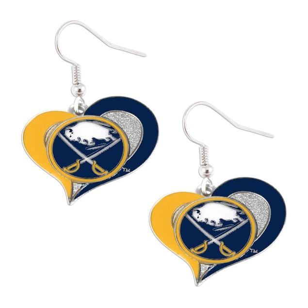 Buffalo Sabres NHL Swirl Heart Earring