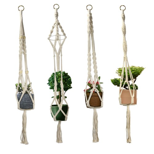 Macrame Plant Hangers - Set of 4 | MandW