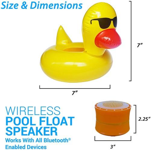 Aduro Wireless IP67 Bluetooth Floating Speaker & Cup Holder
