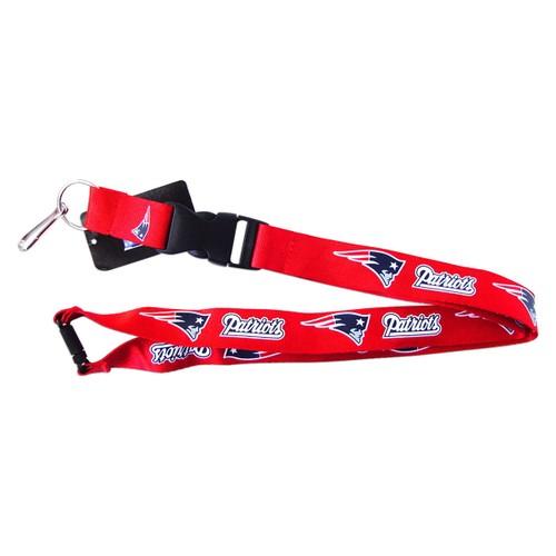 NFL Lanyard Keychain Batch Id Holder New England Patriots - Red