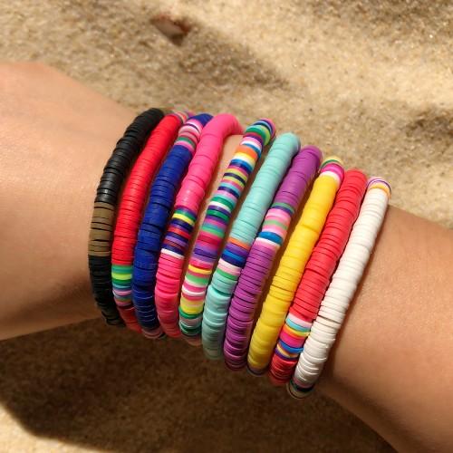 Bohemian Sweet Beauty Elastic Color Clay Bracelet