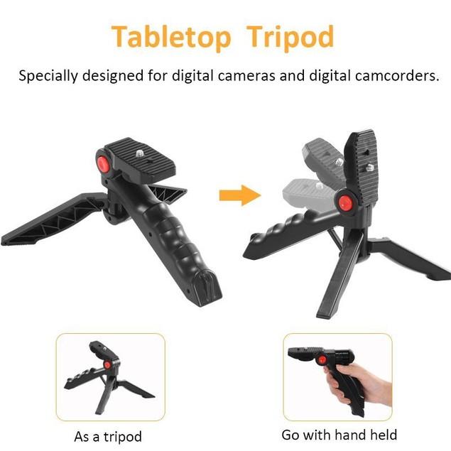 LED Video Light Mic Tripod Kit / Bluetooth Remote for Video Vlogging