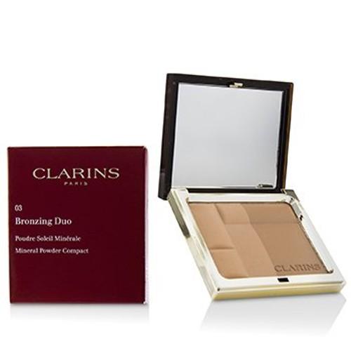 Clarins Bronzing Duo Mineral Powder Compact - # 03 Dark