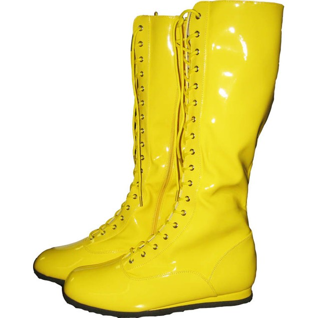 Yellow Adult Wrestling Boots