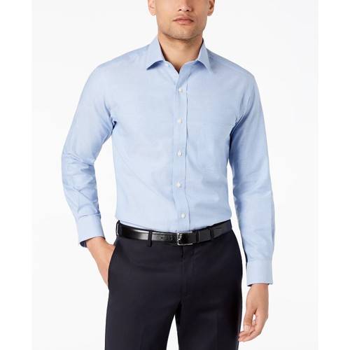 Club Room Men's Slim-Fit Pinpoint Solid Dress Shirt Light Blue Size 34X35